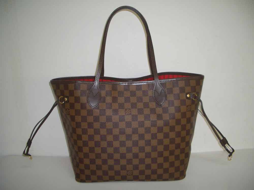 LV Damier Eben Canvas Neverfull MM  N51105