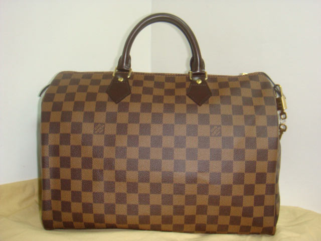 LV Damier Eben Canvas Speedy 35  41523