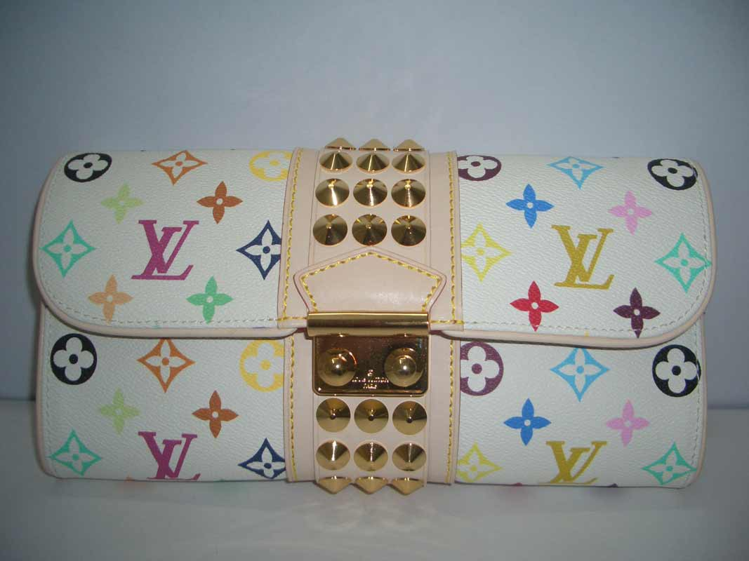 LV Monogram Multicolor Courtney Clutch White  M45639