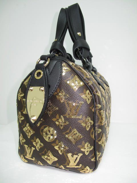 LV Monogram Eclipse Speedy Gold  M40244