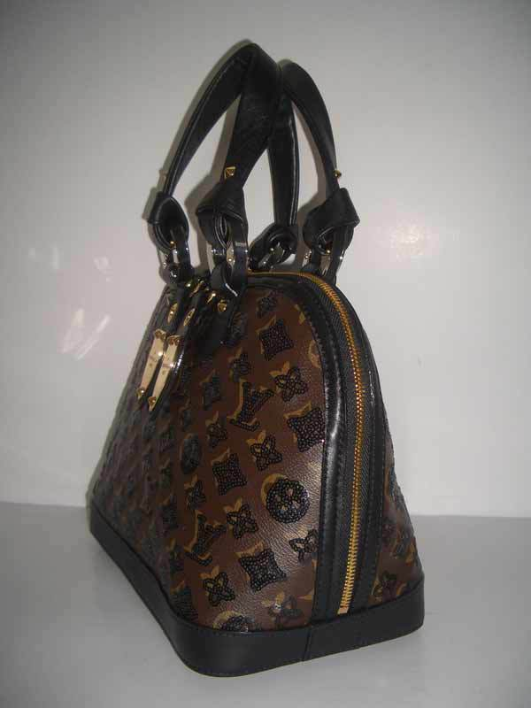 LV Monogram Eclipse Alma MM Black  M40246