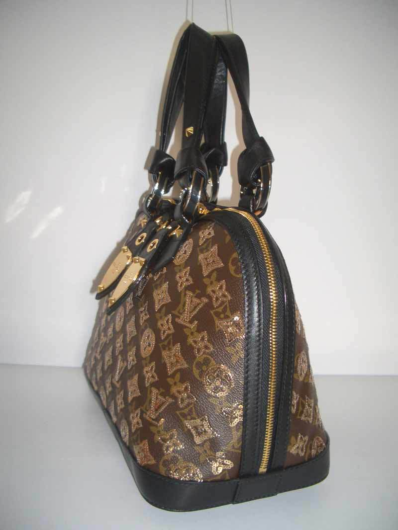 LV Monogram Eclipse Alma MM Gold  M40246